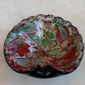 Vintage Handcrafted Glass  Ashtray